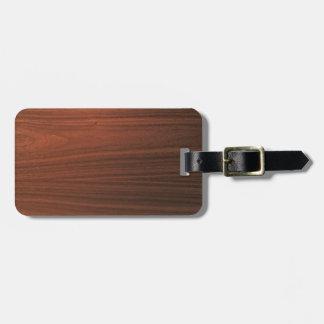 Skandi Walnut Luggage Tag w/ leather strap