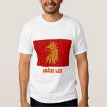 Skåne län waving flag with name t shirt