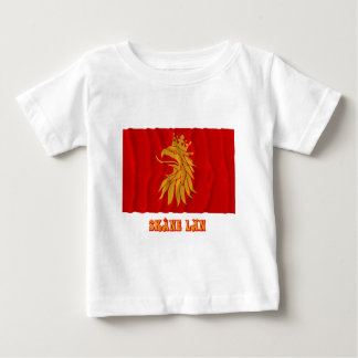 Skåne län waving flag with name t-shirt