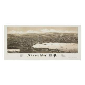 Skaneateles, NY Panoramic Map - 1884 Poster