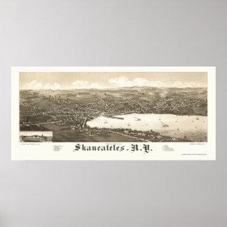 Skaneateles, NY Panoramic Map - 1884 Poster