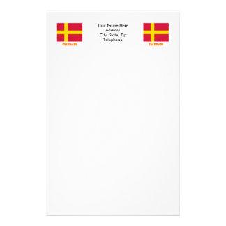 Skåneland flag with name personalized stationery