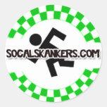 Skankin' (White) Round Stickers
