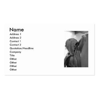 Skara business card, black and white business card