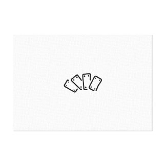 skat pack of cards spades as canvas print