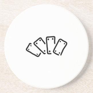 skat pack of cards spades as sandstone coaster