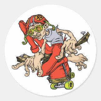 Skate 43 classic round sticker