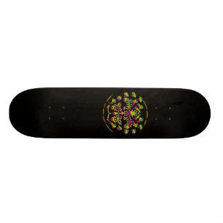 Skate-Black, fleur de lis Mardi-Gras 2011 V-2 Skateboard Deck