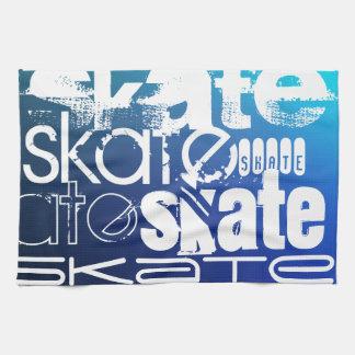Skate; Blue Gradient Kitchen Towel
