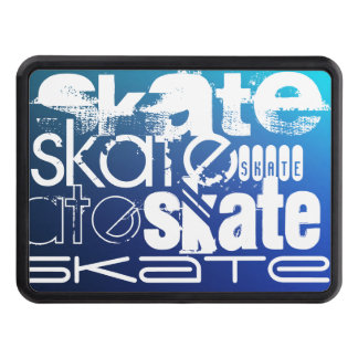 Skate; Blue Gradient Trailer Hitch Cover