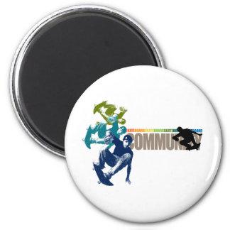 Skate Board community 2 Inch Round Magnet