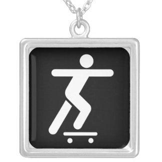 skate board  fashion necklace