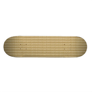 Skate Board Gold Ribbed
