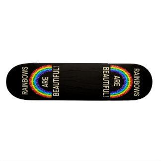 Skate Board Rainbows Are Beautiful Glitter
