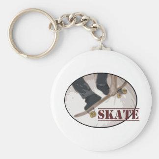 Skate Board Round Basic Round Button Keychain