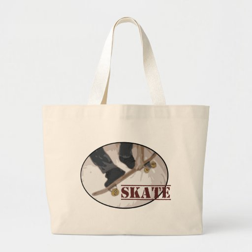 Skate Board Round Canvas Bags