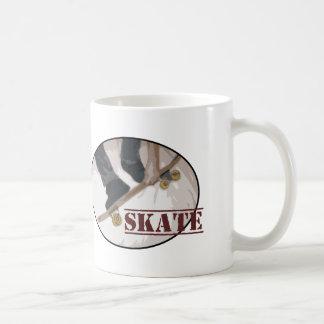 Skate Board Round Classic White Coffee Mug