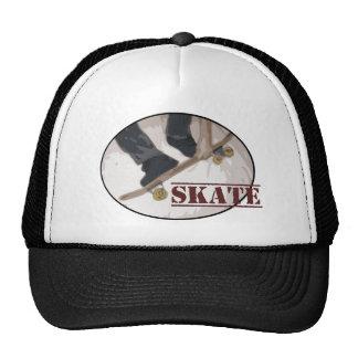 Skate Board Round Trucker Hat