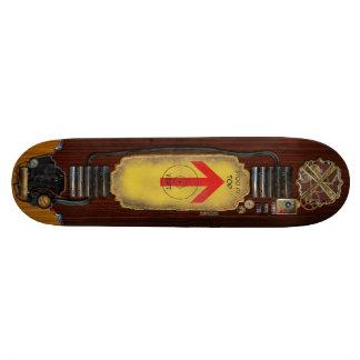 Skate Board - Steampunk Style - Horiz - Template