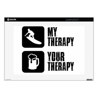 """skate board therapy designs decals for 15"""" laptops"""