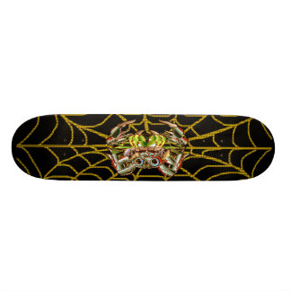 Skate Board with Spiders and Web