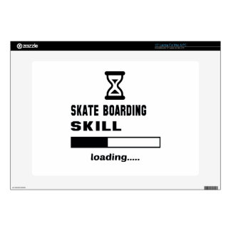 "Skate Boarding skill Loading...... Decals For 15"" Laptops"