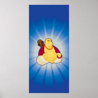 Skate Buddha Poster