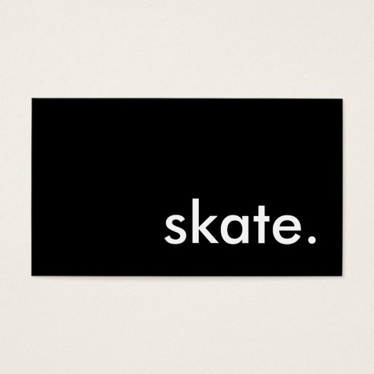 skate. business card