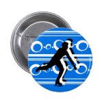 Skate Button - Blue