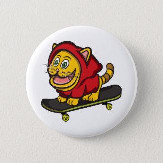 Skate Cat Button
