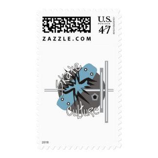Skate Culture Postage Stamp
