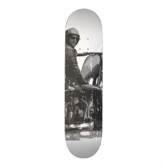 Skate Deck with Chopper Motorcycle Rider