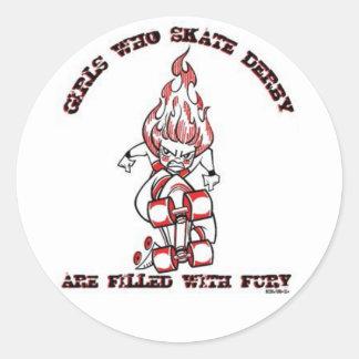 Skate Derby Round Stickers