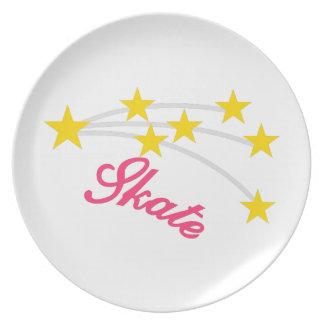 Skate Dinner Plate