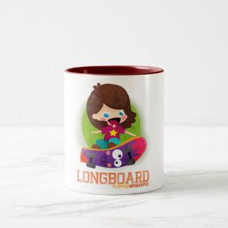 Skate Girl Two-Tone Coffee Mug