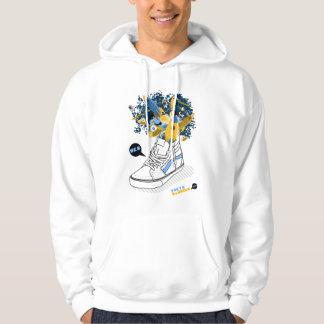 Skate in space hooded sweatshirt