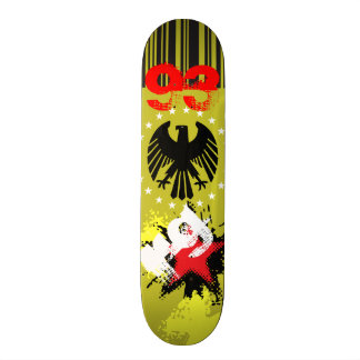 Skate Initials Eagle Yellow Black Network Skateboard