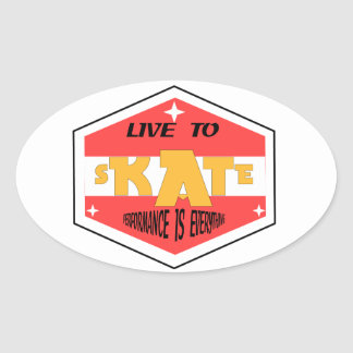 Skate is the reason! oval sticker