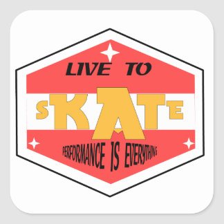 Skate is the reason! square sticker