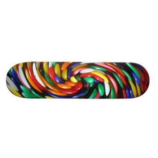 SKATE Jelly Bean Swirl Skateboard Deck