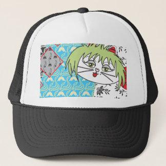 Skate Kitty lotus Trucker Hat