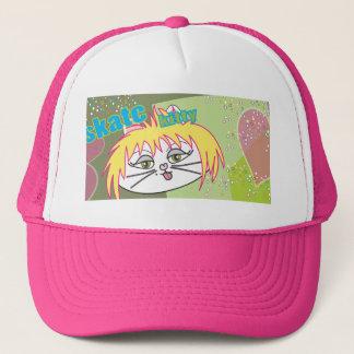 Skate Kitty love Trucker Hat