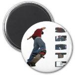Skate Manual Fridge Magnet