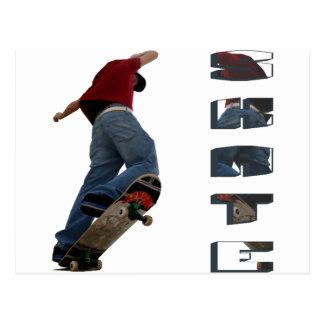 Skate Manual Postcard