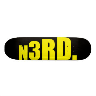 skate n3rd block series black- yellow skateboard