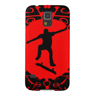 SKATE ON RED CASES FOR GALAXY S5