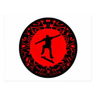 SKATE ON RED POSTCARD