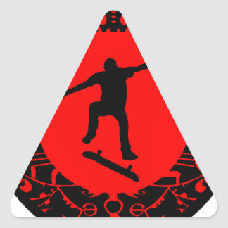 SKATE ON RED TRIANGLE STICKER