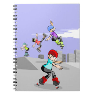 Skate on young wheels in the incline notebook