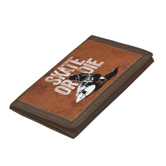 Skate Or Die (Hockey) Trifold Wallets
